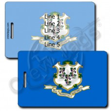 CONNECTICUT STATE FLAG LUGGAGE TAGS