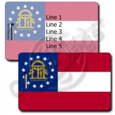 GEORGIA STATE FLAG LUGGAGE TAGS