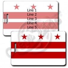 DISTRICT OF COLUMBIA FLAG LUGGAGE TAGS