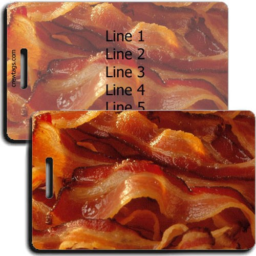 PERSONALIZED BACON LUGGAGE TAGS