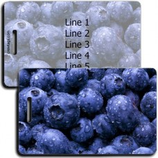 PERSONALIZED BLUEBERRY LUGGAGE TAGS