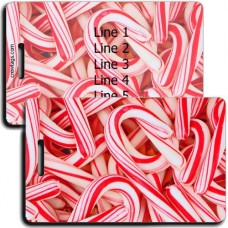 CANDY CANE LUGGAGE TAGS