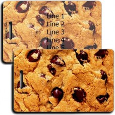 PERSONALIZED CHOCOLATE CHIP COOKIE LUGGAGE TAGS