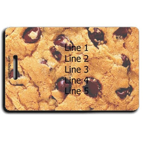 CHOCOLATE CHIP COOKIE PERSONALIZED LUGGAGE TAGS