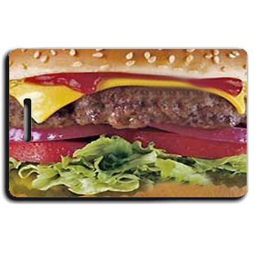 HAMBURGER LUGGAGE TAGS