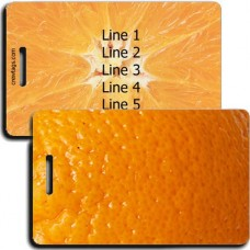 PERSONALIZED ORANGE LUGGAGE TAGS