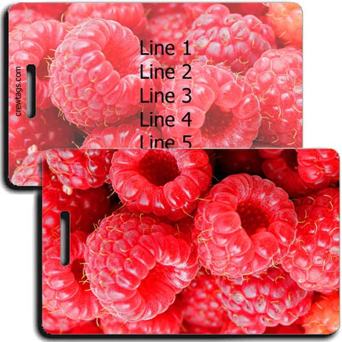PERSONALIZED RASPBERRY LUGGAGE TAGS