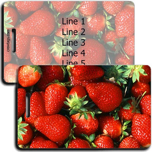 PERSONALIZED STRAWBERRY LUGGAGE TAGS