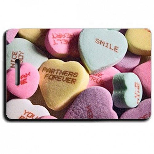 Personalized Candy Hearts Luggage Tags
