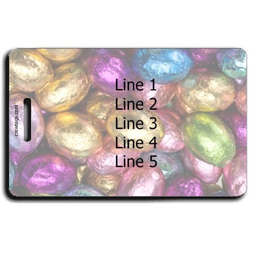 Personalized Chocolate Eggs  Luggage Tags