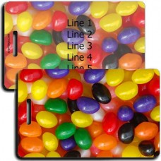 PERSONALIZED JELLY BEAN LUGGAGE TAGS