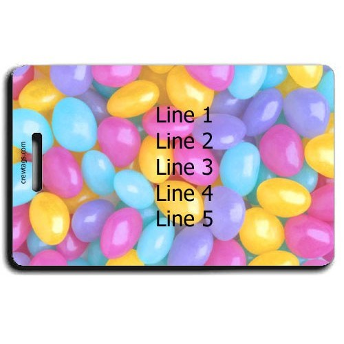 PASTEL JELLY BEAN PERSONALIZED LUGGAGE TAGS