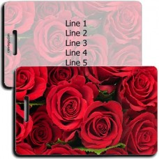 Personalized Roses Luggage Tags