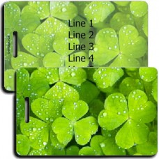 SHAMROCK PERSONALIZED LUGGAGE TAGS