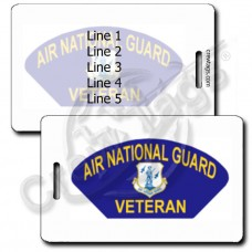 AIR NATIONAL GUARD VETERAN LUGGAGE TAGS