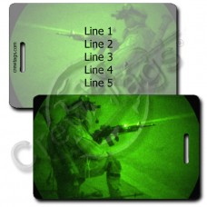 UNITED STATES ARMY DEFENSIVE POSTURE LUGGAGE TAGS