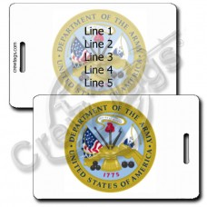 SEAL OF THE UNITED STATES ARMY LUGGAGE TAGS
