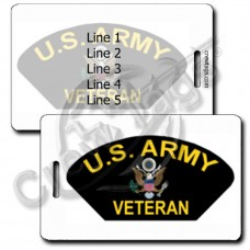UNITED STATES ARMY VETERAN LUGGAGE TAGS