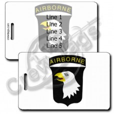 UNITED STATES ARMY 101st AIRBORNE DIVISION LUGGAGE TAGS