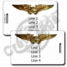 NAVAL FLIGHT OFFICER WINGS LUGGAGE TAGS
