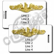 NAVAL SUBSURFACE WARFARE OFFICER LUGGAGE TAGS