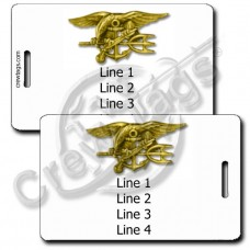 NAVAL SPECIAL WARFARE LUGGAGE TAGS (SEAL)