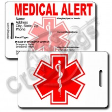 MEDICAL ALERT - LUGGAGE TAGS