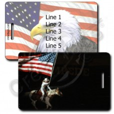 RODEO FLAG LUGGAGE TAGS