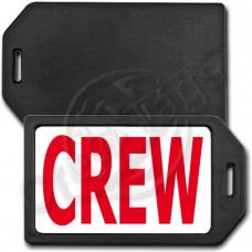 PERSONALIZED PRIVACY PROTECTION CREW TAG - BLACK WITH RED CREW INSERT