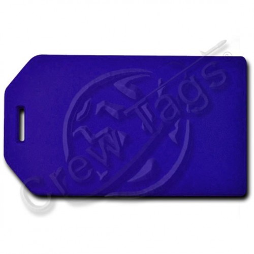 PRIVACY PROTECTION LUGGAGE TAG - BLUE CASE WITH BLUE INSERT