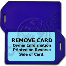PRIVACY PROTECTION LUGGAGE TAG - BLUE CASE WITH LIGHT BLUE INSERT