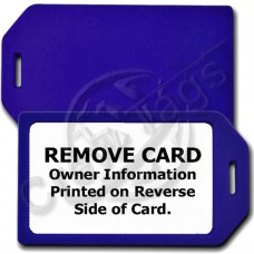 PRIVACY PROTECTION LUGGAGE TAG - BLUE CASE WITH WHITE INSERT