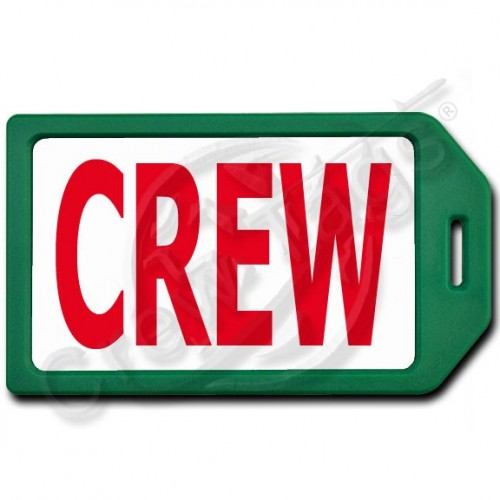 PRIVACY PROTECTION CREW TAG - GREEN CASE WITH RED CREW INSERT