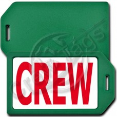PERSONALIZED PRIVACY PROTECTION CREW TAG - GREEN CASE WITH RED CREW INSERT