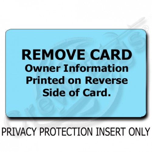 PRIVACY PROTECTION LUGGAGE TAG - LIGHT BLUE INSERT ONLY