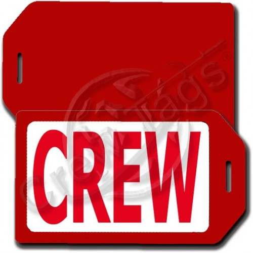 PERSONALIZED PRIVACY PROTECTION CREW TAG - RED CASE WITH RED CREW INSERT