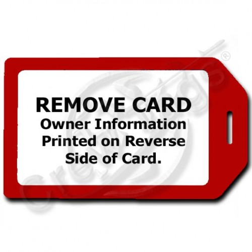 PRIVACY PROTECTION LUGGAGE TAG - RED WITH WHITE INSERT