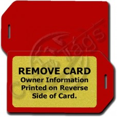 PRIVACY PROTECTION LUGGAGE TAG - RED CASE WITH GOLD INSERT