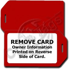 PRIVACY PROTECTION LUGGAGE TAG - RED CASE WITH WHITE INSERT