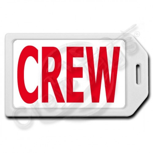 PRIVACY PROTECTION CREW TAG - WHITE CASE WITH RED CREW INSERT