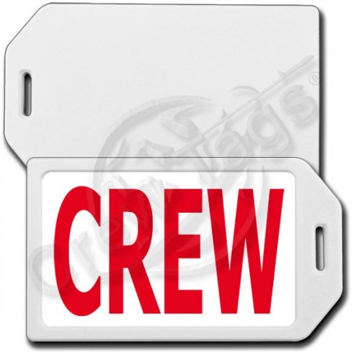 PERSONALIZED PRIVACY PROTECTION CREW TAG - WHITE CASE WITH RED CREW INSERT