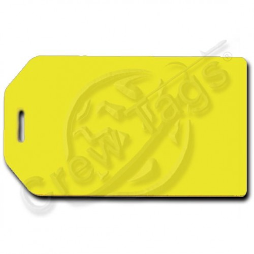 YELLOW BUSINESS CARD HOLDER LUGGAGE TAG