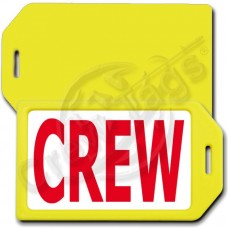 PERSONALIZED PRIVACY PROTECTION CREW TAG - YELLOW CASE WITH RED CREW INSERT