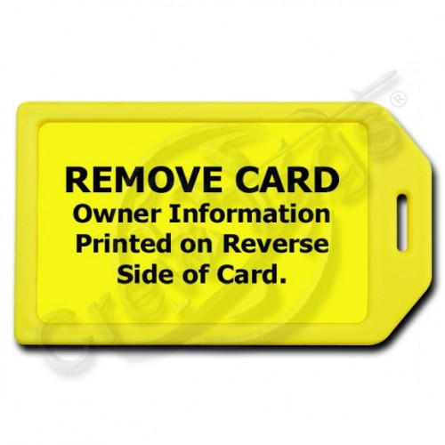 PRIVACY PROTECTION LUGGAGE TAG - YELLOW CASE WITH YELLOW INSERT