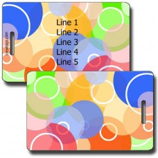 PERSONALIZED RAINBOW CIRCLES LUGGAGE TAGS
