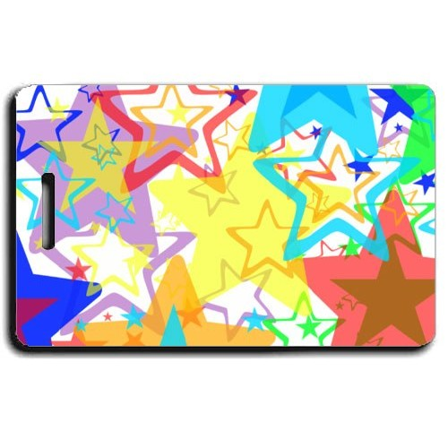 RAINBOW STAR PERSONALIZED LUGGAGE TAGS