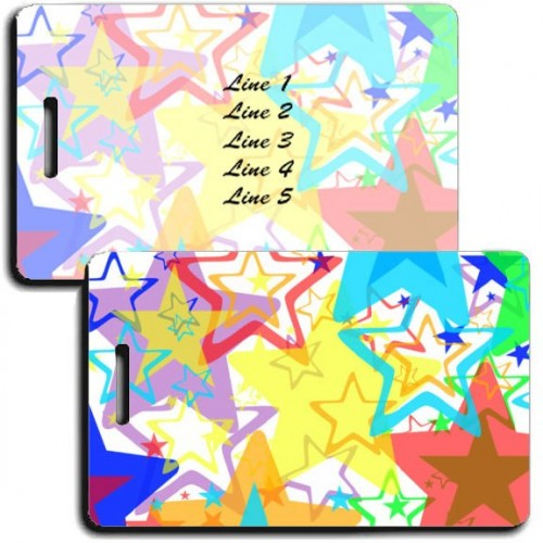PERSONALIZED RAINBOW STAR LUGGAGE TAGS