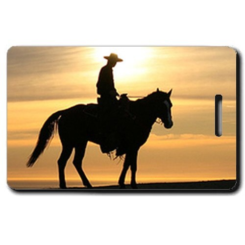 COWBOY PERSONALIZED LUGGAGE TAGS