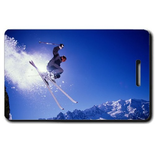ALPINE SKI PERSONALIZED LUGGAGE TAGS