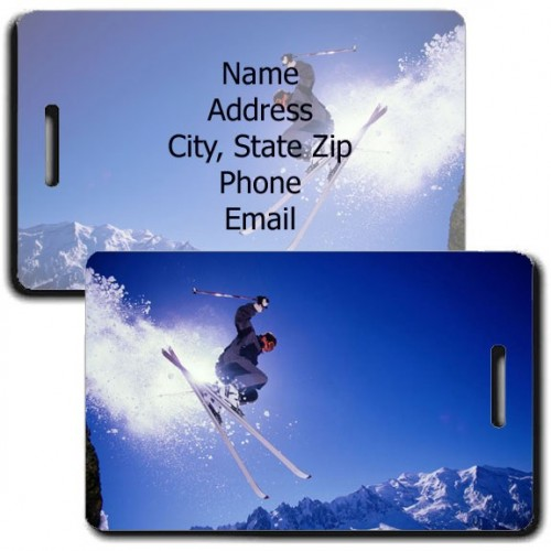 PERSONALIZED ALPINE SKI LUGGAGE TAGS